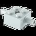 LEGO Medium Stone Gray Brick 2 x 2 with Pins and Axlehole (30000)