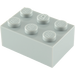 LEGO Medium Stone Gray Brick 2 x 3 (3002)