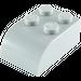 LEGO Medium Stone Gray Brick 2 x 3 with Curved Top (6215)
