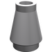 LEGO Medium Stone Gray Cone 1 x 1 without Top Groove (4589)