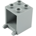 LEGO Medium Stone Gray Container 2 x 2 x 2 with Recessed Studs (4345)