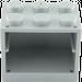 LEGO Medium Stone Gray Cupboard 2 x 3 x 2 with Solid Studs (4532)