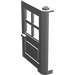 LEGO Medium Stone Gray Door 1 x 4 x 5 with 4 Panes