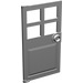 LEGO Medium Stone Gray Door 1 x 4 x 6 with 4 Panes and Stud Handle