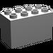 LEGO Medium Stone Gray Duplo Brick 2 x 4 x 2 (31111)