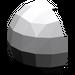 LEGO Medium Stone Gray Minifig Helmet Bubble Half (61287)
