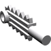 LEGO Medium Stone Gray Minifig Tool Chainsaw Blade (6117)