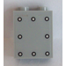 LEGO Medium Stone Gray Panel 1 x 2 x 2 with 8 Rivets Sticker with Side Supports, Hollow Studs