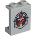 LEGO Medium Stone Gray Panel 1 x 2 x 2 with Deep Sea Logo Sticker with Side Supports, Hollow Studs