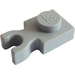 LEGO Medium Stone Gray Plate 1 x 1 with Vertical Clip (Thick 'U' Clip) (4085 / 60897)