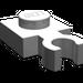 LEGO Medium Stone Gray Plate 1 x 1 with Vertical Clip (Thin Open 'O' Clip) (4085)