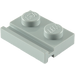 LEGO Medium Stone Gray Plate 1 x 2 with Door Rail (32028)