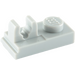 LEGO Medium Stone Gray Plate 1 x 2 with Top Clip with Gap (92280)