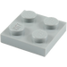 LEGO Medium Stone Gray Plate 2 x 2 (3022)