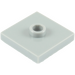 LEGO Medium Stone Gray Plate 2 x 2 with Groove and 1 Center Stud (23893 / 87580)