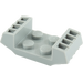 LEGO Medium Stone Gray Plate 2 x 2 With Raised Grilles (41862)