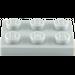 LEGO Medium Stone Gray Plate 2 x 3 (3021)