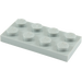 LEGO Medium Stone Gray Plate 2 x 4 (3020)
