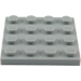 LEGO Medium Stone Gray Plate 4 x 4 (3031)