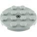 LEGO Medium Stone Gray Plate 4 x 4 Round with Hole and Snapstud (60474)