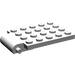 LEGO Medium Stone Gray Plate 4 x 5 Trap Door Curved Hinge