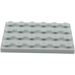 LEGO Medium Stone Gray Plate 4 x 6 (3032)