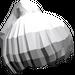 LEGO Medium Stone Gray Ponytail Hair (6093)