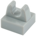 LEGO Medium Stone Gray Tile 1 x 1 with Clip (No Cut in Center) (2555 / 12825)