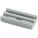 LEGO Medium Stone Gray Tile 1 x 2 Grille (with Bottom Groove) (2412)