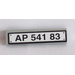 LEGO Medium Stone Gray Tile 1 x 4 with 'AP 541 83' Registration Number Sticker