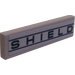 "LEGO Medium Stone Gray Tile 1 x 4 with ""SHIELD"" Sticker"