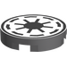 "LEGO Medium Stone Gray Tile 2 x 2 Round with Galactic Republic with ""X"" Bottom"