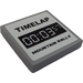 """LEGO Medium Stone Gray Tile 2 x 2 with """"TIMELAP 00:03:57 MOUNTAIN RALLY"""" Sticker with Groove"""