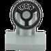 LEGO Medium Stone Gray Vehicle Console with Black Steering Wheel (73081)