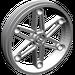 LEGO Medium Stone Gray Wheel 61.6 x 13.6 Motorcycle