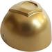 LEGO Metallic Gold Large Helmet Visor with Trapezoid area on top (15600 / 53391)