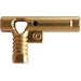 LEGO Metallic Gold Minifig Hose Nozzle with Side String Hole without Grooves (64769)