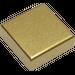 LEGO Metallisches Gold Fliese 1 x 1 mit Groove (53836)