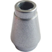 LEGO Metallic Silver Cone 1 x 1 with Top Groove (15551 / 55525)