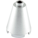 LEGO Metallic Silver Cone 2 x 2 x 2 (Completely Open Stud) (63417)