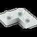 LEGO Metallic Silver Plate 2 x 2 Corner (63325)