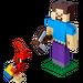 LEGO Minecraft Steve BigFig with Parrot Set 21148