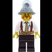 LEGO Miner with Mining Hat, Orange Beard, Suspenders, Tie, Tool Belt and Pen in Pocket Minifigure
