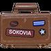 LEGO Minifig Suitcase with SOKOVIA Sticker (4449)