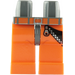 LEGO Minifigure Hips with Orange Legs with Decoration (3815 / 63206)