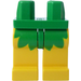 LEGO Minifigure Hips with Yellow Legs with Green Leaf Skirt (3815)