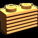LEGO Orange Brick 1 x 2 with Grille