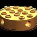 LEGO Orange Brick 4 x 4 Round with Holes
