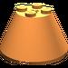 LEGO Orange Cone 4 x 4 x 2 with Axle Hole (3943)