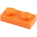 LEGO Orange assiette 1 x 2 (3023)